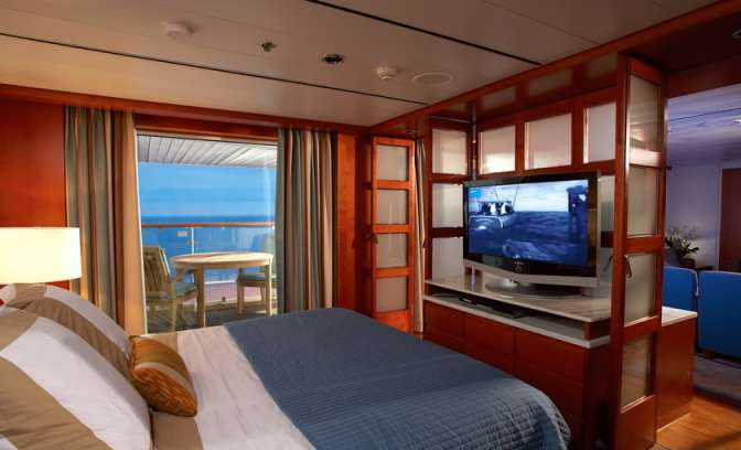 Royal Suite aan boord van Celebrity Century cruiseschip