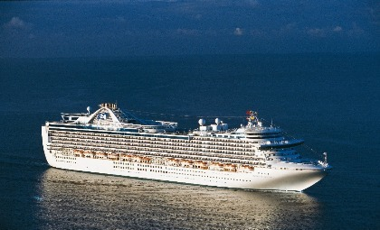 De Crown Princess van rederij Princess Cruises