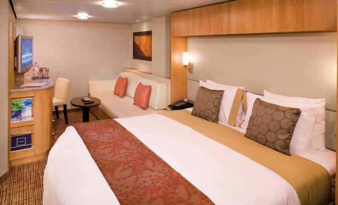 Een binnenhut op de Celebrity Reflection van Celebrity Cruises
