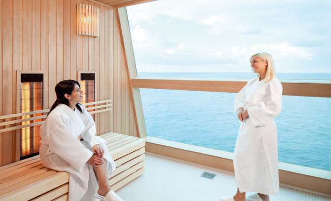 Infrarode sauna op de Celebrity Reflection van Celebrity Cruises