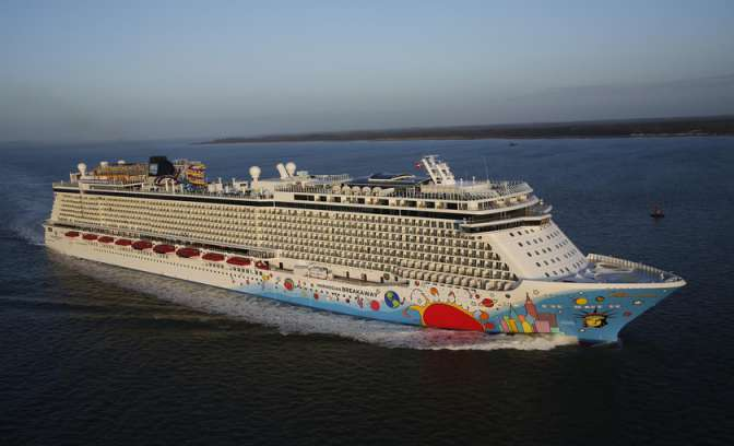 De Norwegian Breakaway van Norwegian Cruise Line